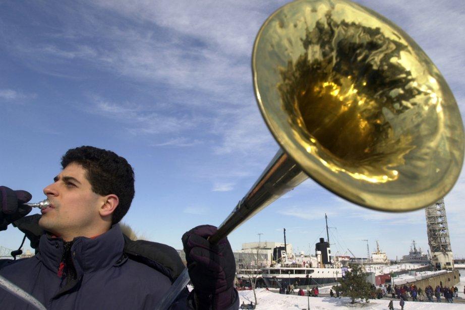 Le musicien Frédéric Demers, du quintette de cuivres... (Photo: Bernard Brault, archives La Presse)