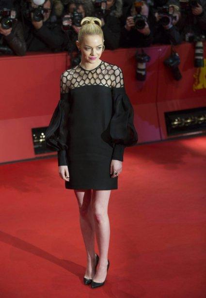 Emma Stone sur le tapis rouge de The Croods. | 15 février 2013