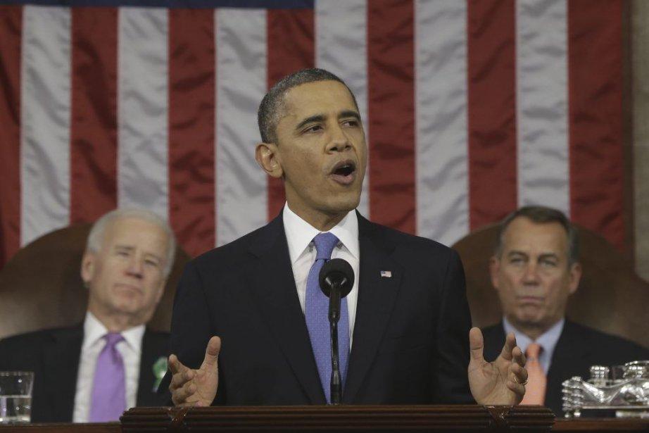 Mardi dernier lors de son discours sur l'état... (PHOTO CHARLES DHARAPAK, AFP)