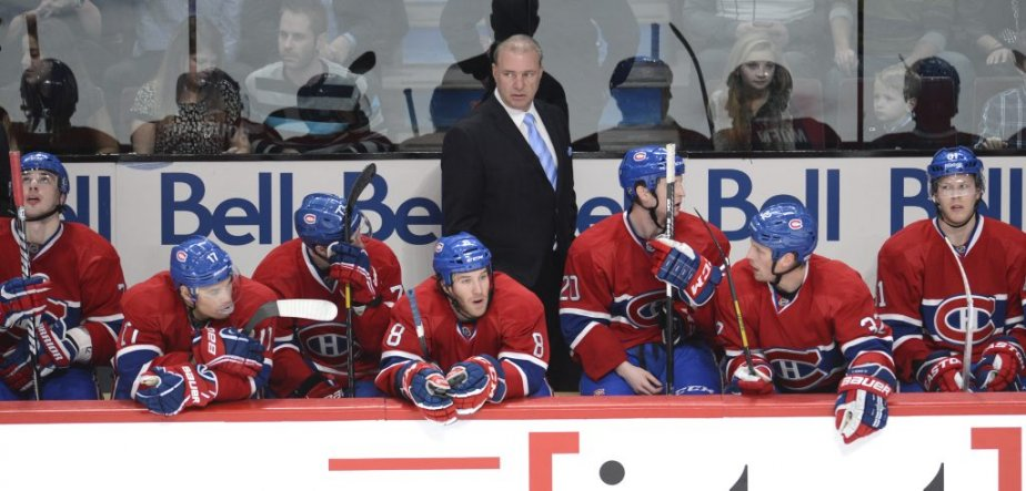 Michel Therrien derrière le banc du Canadien. (Photo Bernard Brault, La Presse)