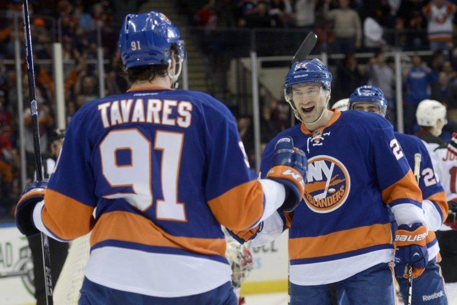 John Tavares a marqué 3 buts pour les... (Photo Henny Ray Abrams, Associated Press)