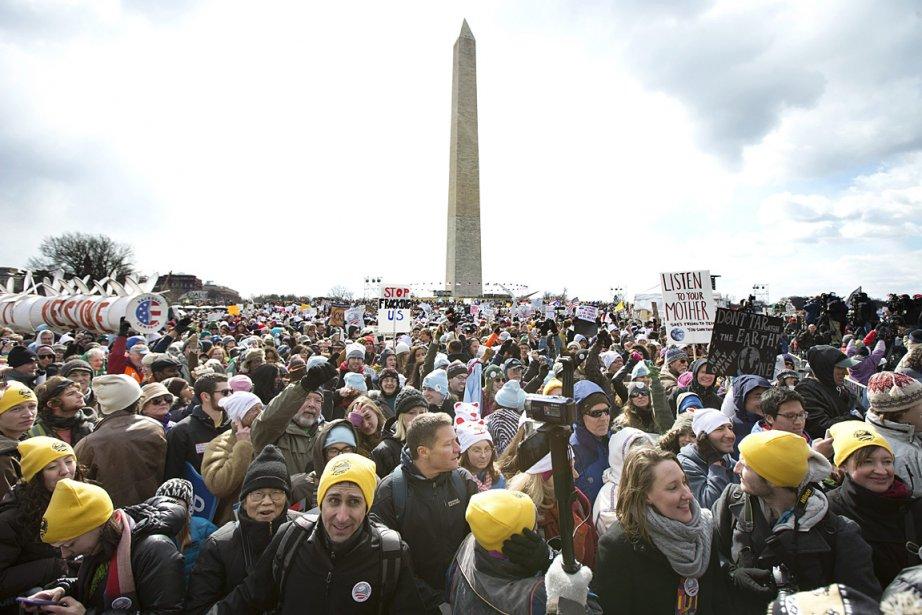 Ils étaient des milliers réunis à Washington pour... (Photo: AP)