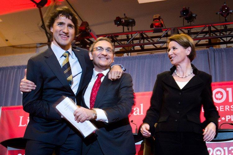 Justin Trudeau, Martin Cauchon et Martha  ... (Photo: PC)