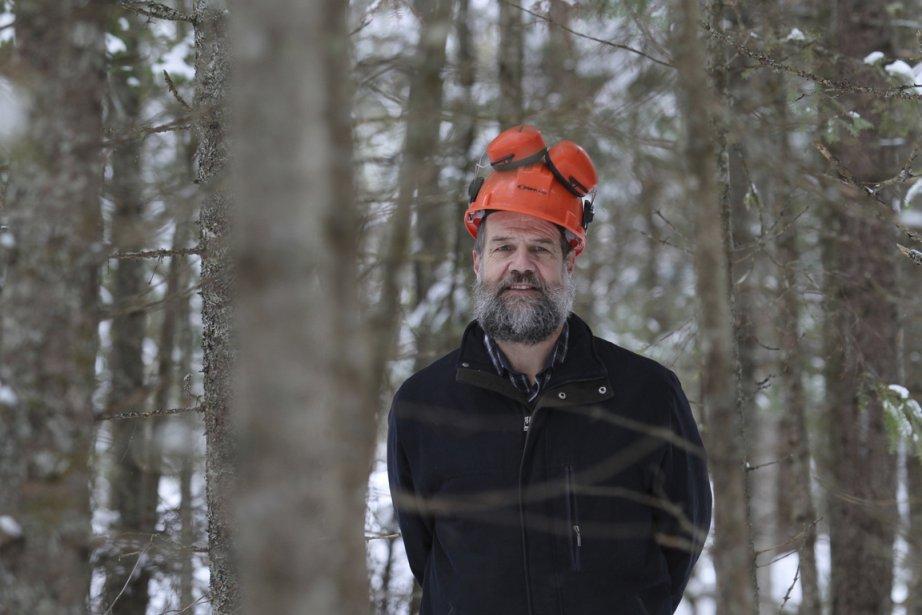 André Roy, propriétaire d'un bois de 175 hectares... (Photos Stéphane Champagne, collaboration spéciale)