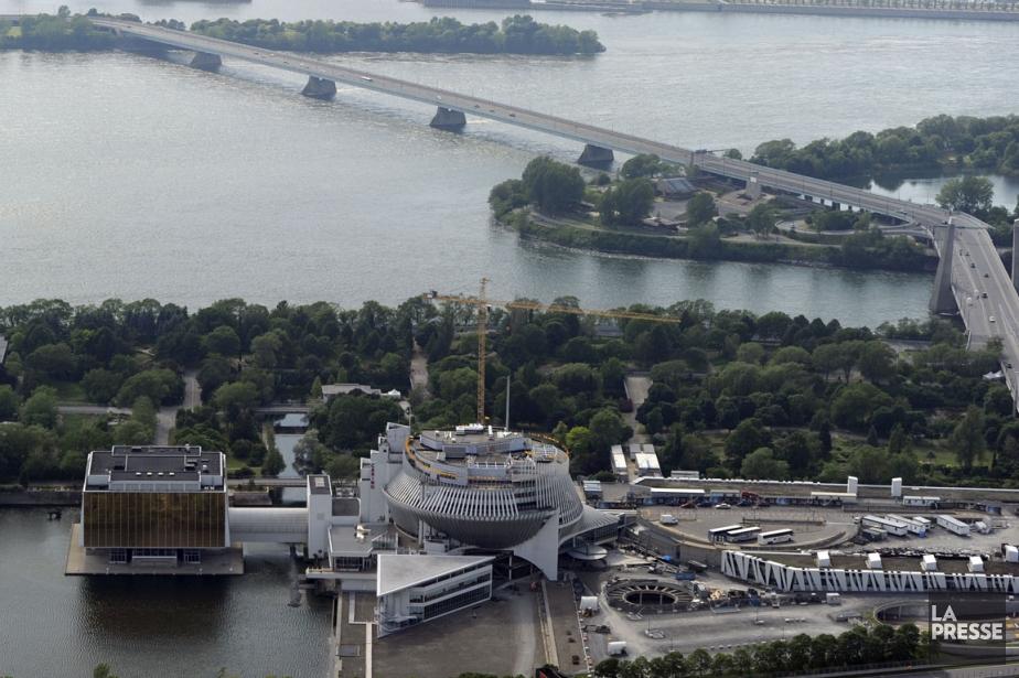 Ce lien cyclable inter-rives nécessiterait la construction d'une... (Photo: Bernard, Archives La Presse)
