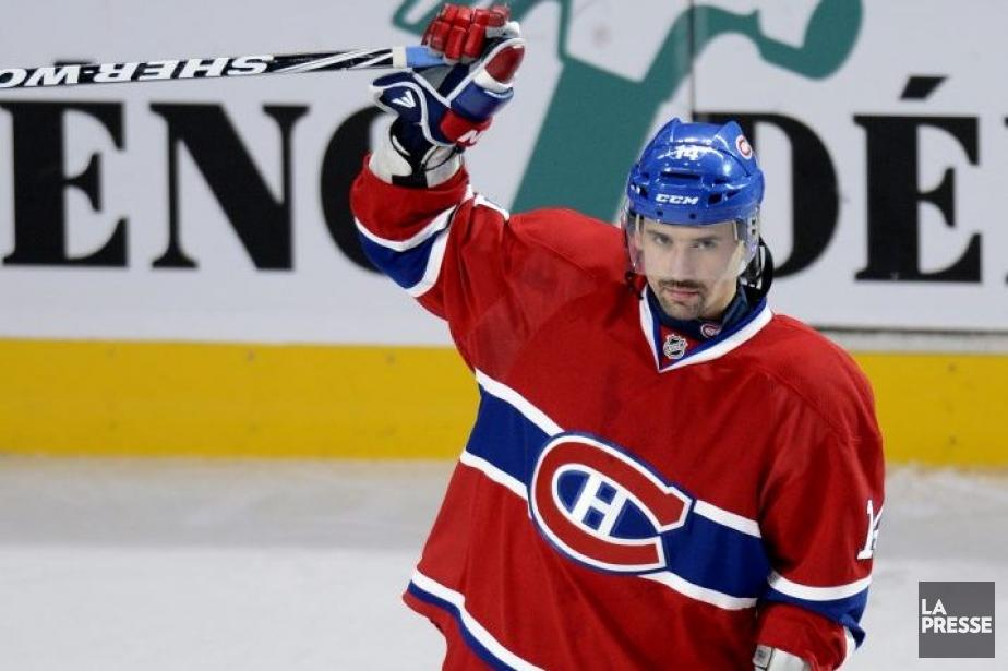 Le héros du match: Tomas Plekanec.... (Photo Bernard Brault, La Presse)