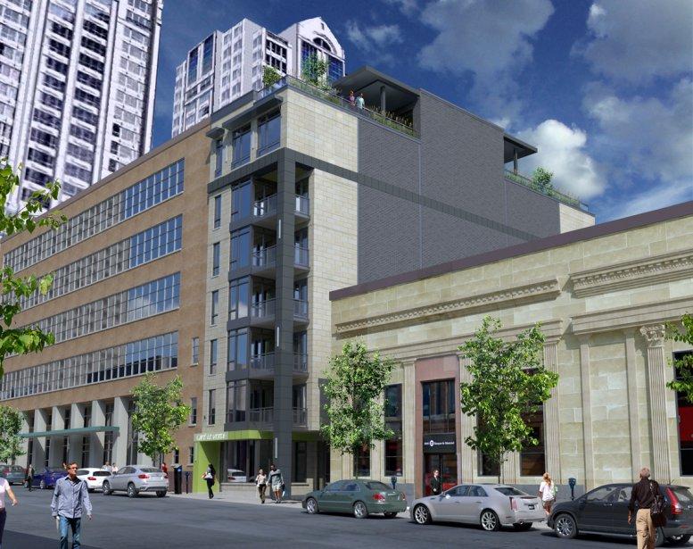 Le complexe Aurea, très intime, comptera 11 condos et sera jumelé au YMCA, rue Drummond. | 19 février 2013