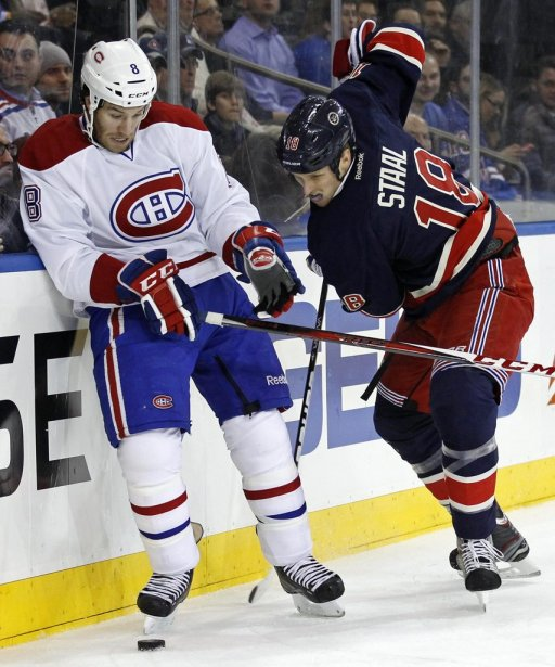 Brandon Prust effectuait un retour au Madison Square Garden de New York. (PHOTO ADAM HUNGER, REUTERS)