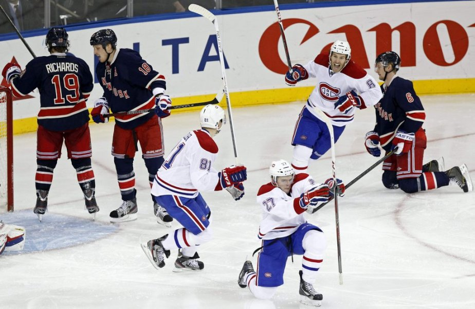 Alex Galchenyuk (27) a inscrit le but gagnant. (PHOTO ADAM HUNGER, REUTERS)
