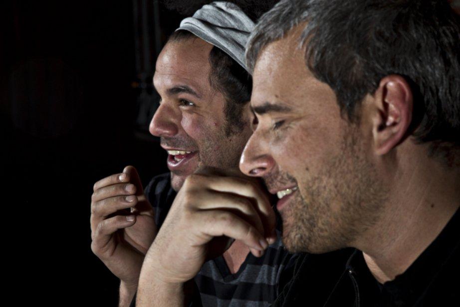 Les producteurs de CDRÔLE.CA, Jean-Philippe Anwar et Marc... (Photo: Olivier Jean, La Presse)