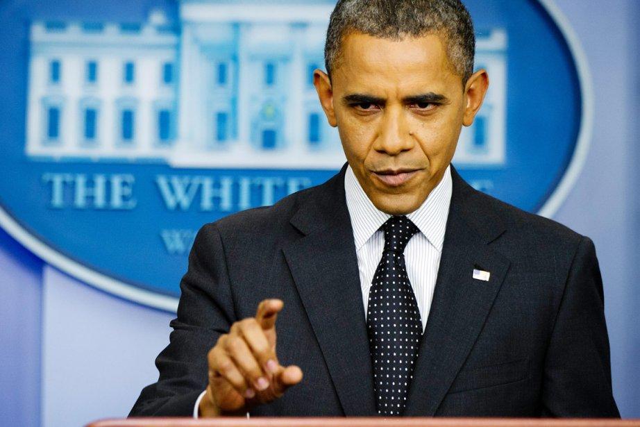 Le président Obama répond à la question que... (PHOTO JIM WATSON, ARCHIVES AFP)