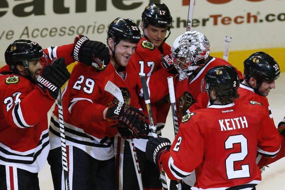 Chicago (13-0-3) a signé un troisième gain d'affilée,... (Photo Jim Young, Reuters)