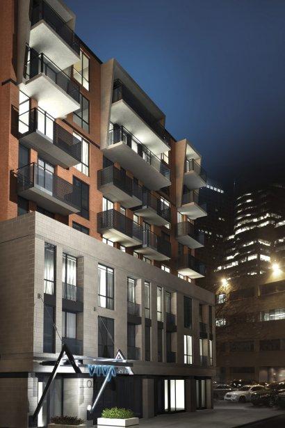Viva Lofts Bishop, immeuble de neuf étages, comprendra des commerces au rez-de-chaussée. | 20 février 2013