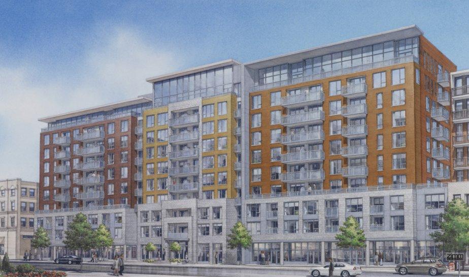 Le complexe Flex, de 10 étages, comprendra 214 condos et des espaces commerciaux au rez-de-chaussée. | 20 février 2013