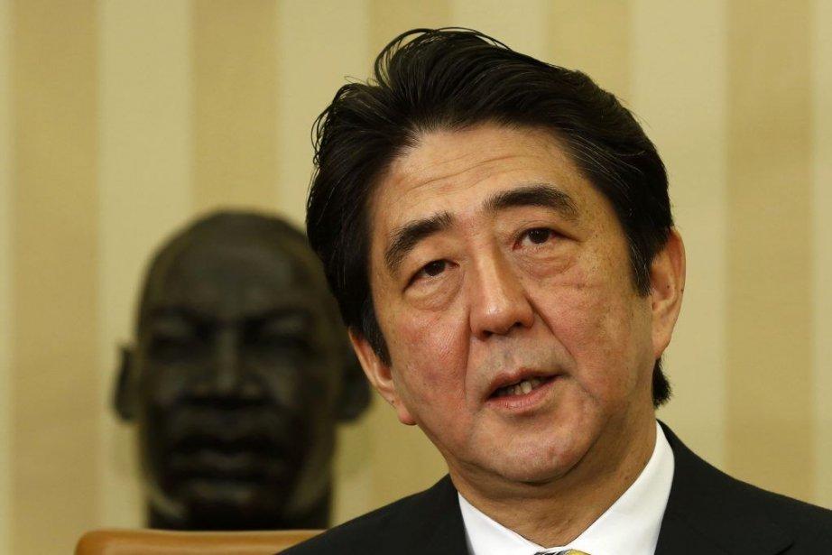 Shinzo Abe, le premier ministre nippon.... (PHOTO LARRY DOWNING, REUTERS)