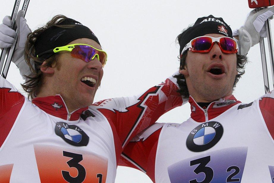 Devon Kershaw et Alex Harvey, lors d'une compétition... (Photo: archives AP)