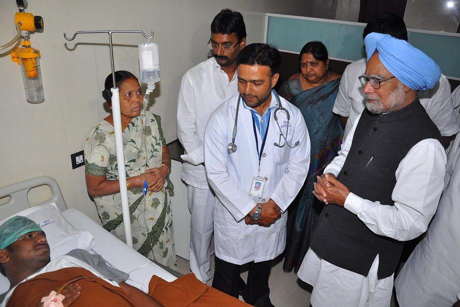 Le premier ministre indien Manmohan Singh a visité... (Photo: AFP)
