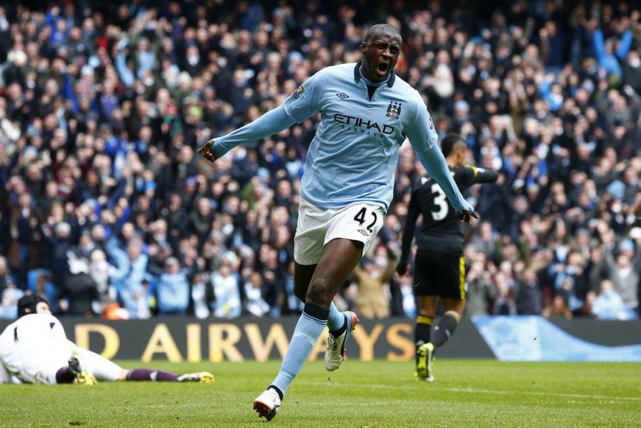 Yaya Touré a ouvert la marque pour Manchester... (Photo Darren Staples, Reuters)