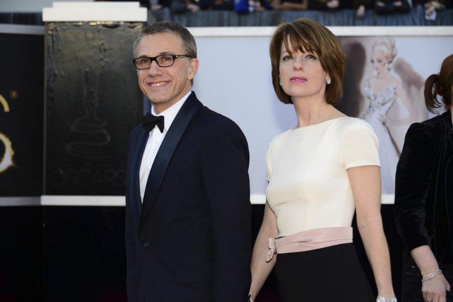 L'acteur Christoph Waltz accompagné de Judith Holste | 24 février 2013