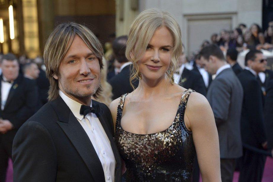 L'actrice Nicole Kidman et son mari, le chanteur Keith Urban | 24 février 2013