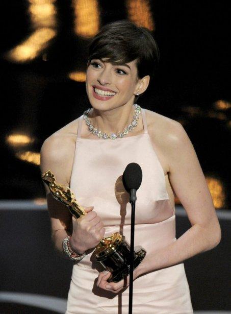 Anne Hathaway a pour sa part remporté la statuette du second rôle féminin pour sa Fantine de la comédie musicale «Les Misérables». | 24 février 2013