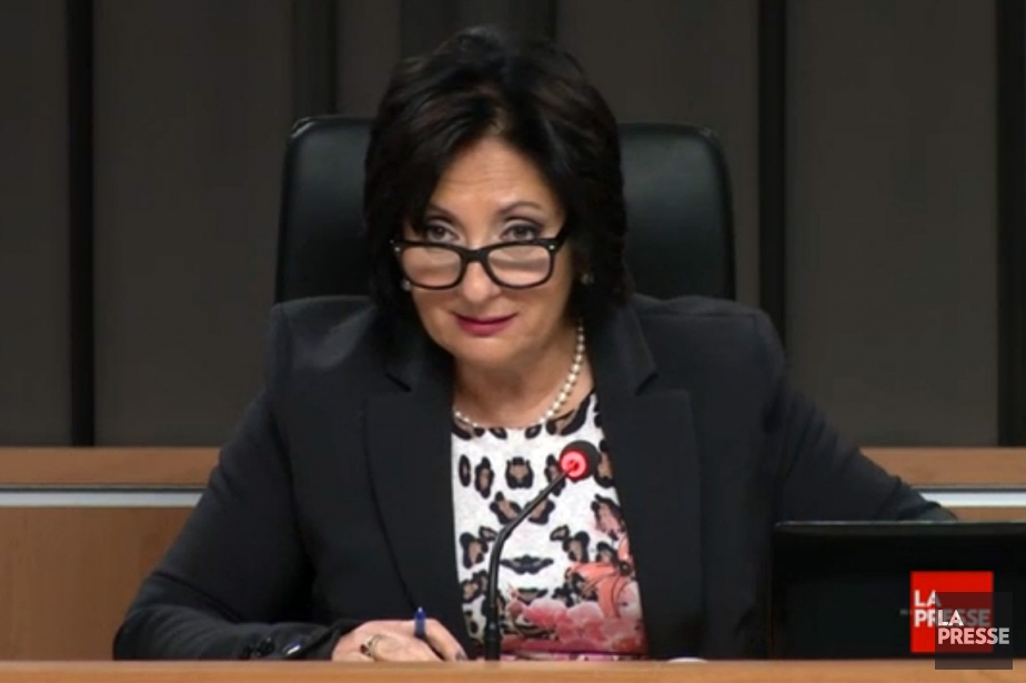 La juge France Charbonneau... (Photo: tirée d'une vidéo, La Presse)