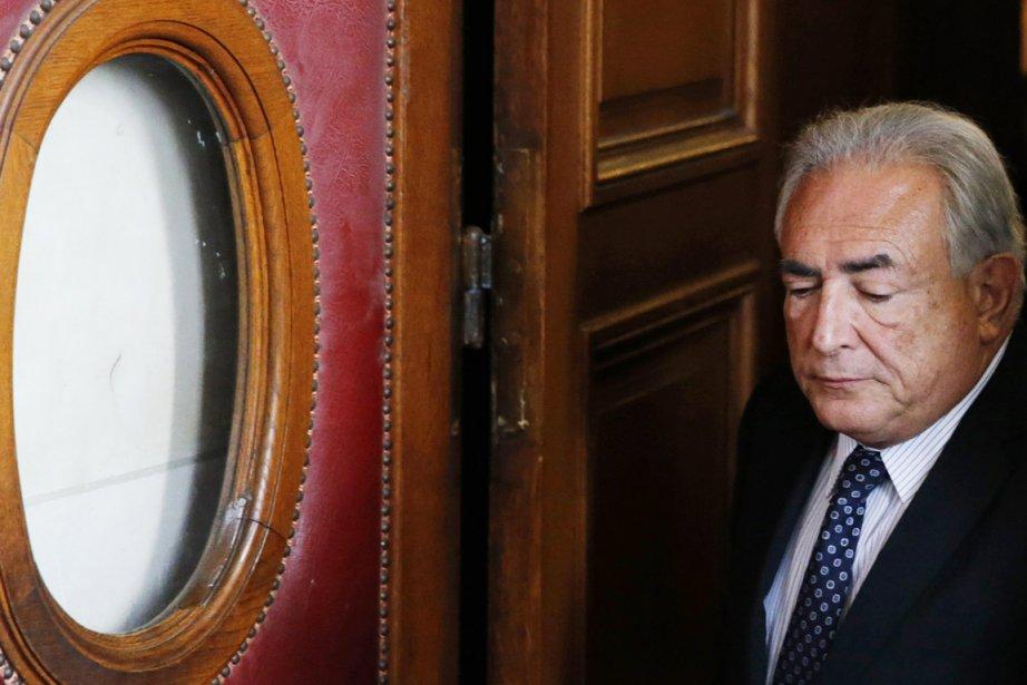 Devant la juge Anne-Marie Sauteraud, Dominique Strauss-Kahn a... (PHOTO CHRISTIAN HARTMANN, REUTERS)