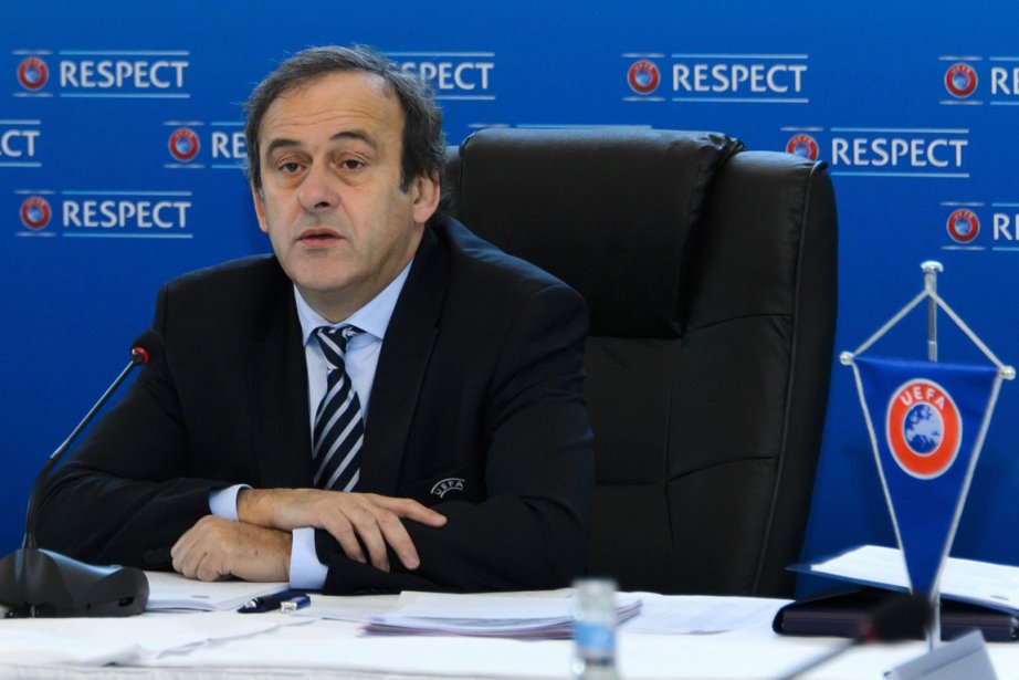 Michel Platini, le président de l'UEFA.... (PHOTO FABRICE COFFRINI, ARCHIVES AFP)
