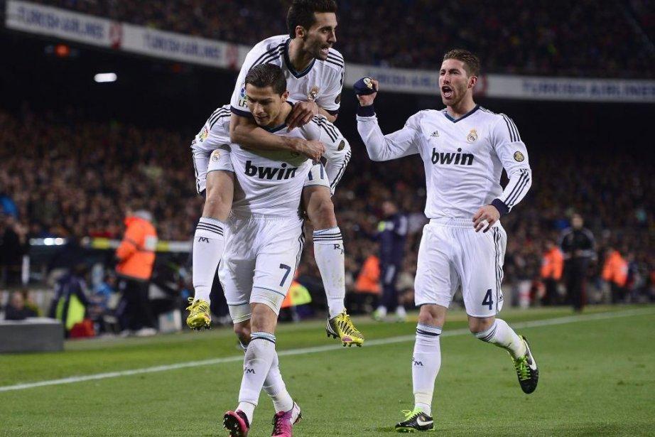 Cristiano Ronaldo Alvaro Arbeloa et Sergio Ramos du... (Photo Manu Fernandez, Associated Press)