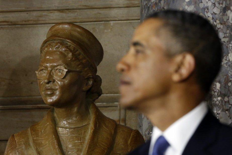 Le président Barack Obama lors de l'inauguration de... (Photo Kevin Lamarque, Reuters)