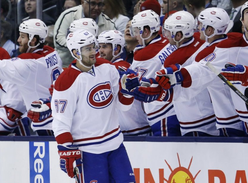 Max Pacioretty célèbre son 2e but du match en 3e période. (Reuters)