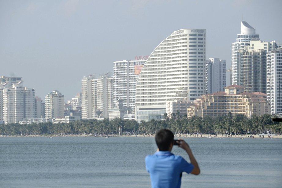 On l'appelait il y a peu la «Dubaï chinoise»: l'île du... (PHOTO WANG ZHAO, AFP)