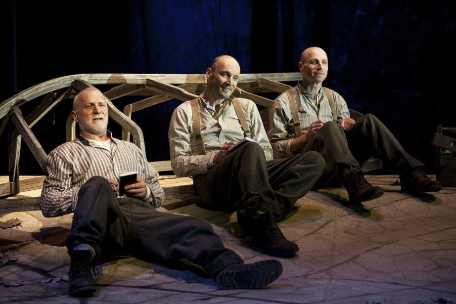 Jean-François Blanchard, Marcel Pomerlo et Denis Lavalou incarnent... (Photo: Robert Etcheverry, fournie par le Théâtre Complice)