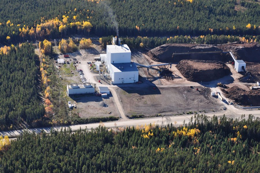 L'usine de cogénération de Chapais Énergie produit presque... (PHOTO FOURNIE PAR CHAPAIS ÉNERGIE)