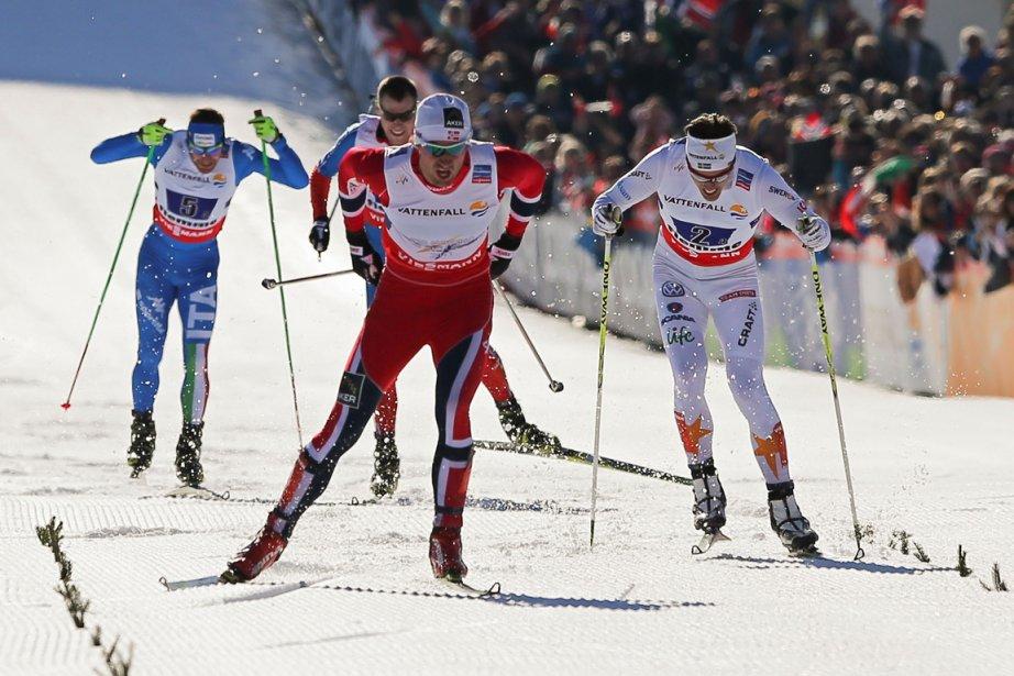 Len Valjas et ses coéquipiers de l'équipe canadienne... (Photo Pierre Teyssot, AFP)