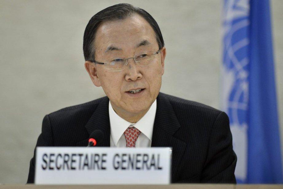 Ban Ki-moon, le secrétaire général de l'ONU.... (Photo Martial Trezzini, AFP)
