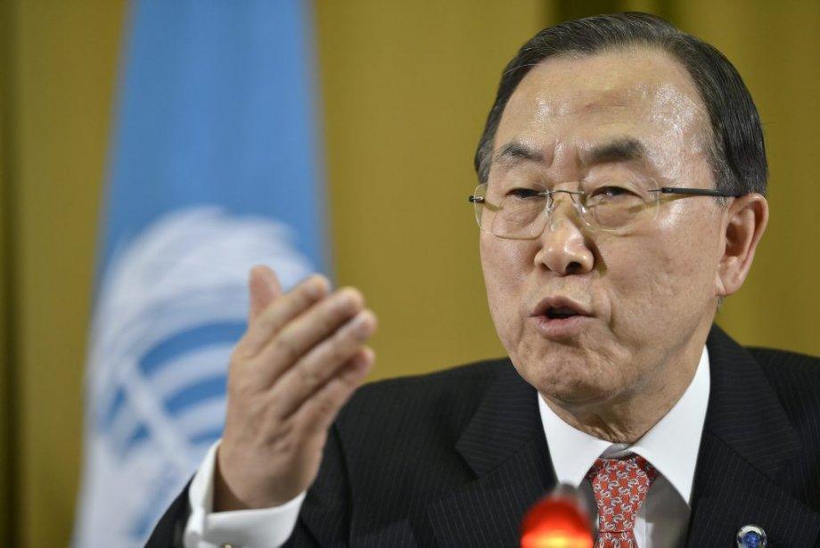 Le secrétaire général de l'ONU, BanKi-moon.... (Photo Martial Trezzini, AP)