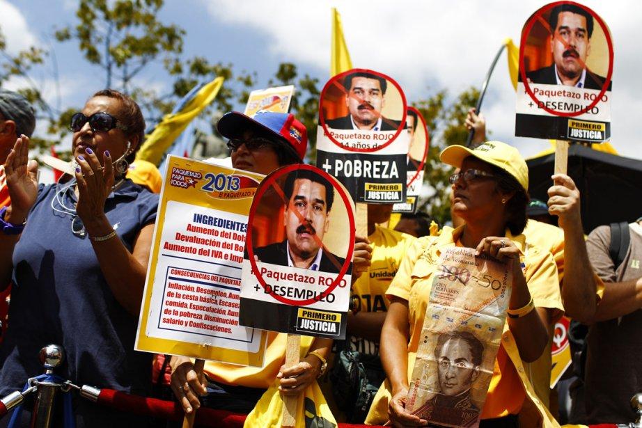 Les opposants à Hugo Chavez et Nicolas Maduro... (Photo : Carlos Garcia Rawlins, Reuters)
