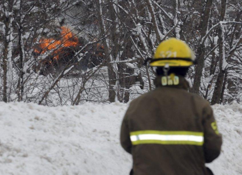 L'incendie qui a suivi l'explosion est rapidement devenu... (Francois Gervais)