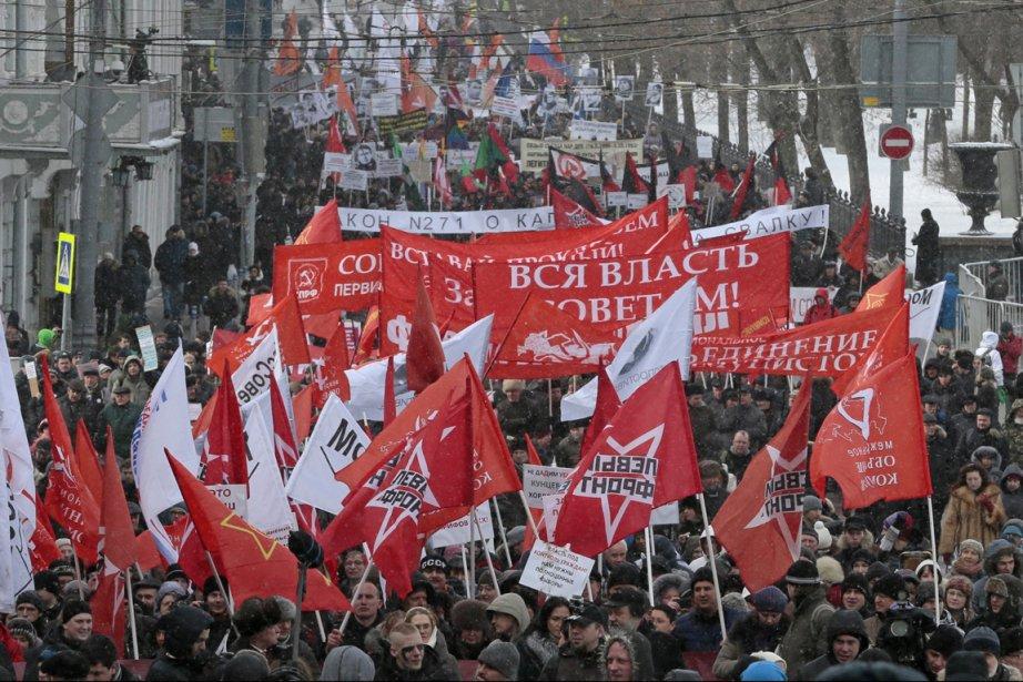 Environ 12 000 personnes ont participé à cette... (Photo : Mikhail Metzel, AP)
