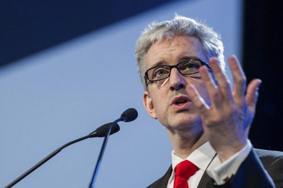 Jean-Martin Aussant prononce son discours d'ouvertureau congrès d'Option... (Photo Édouard Plante-Fréchette, La Presse)