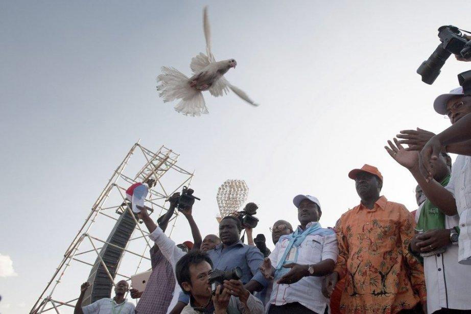 Le premier ministre kenyan et candidat à la... (Photo Will Boase, AFP)