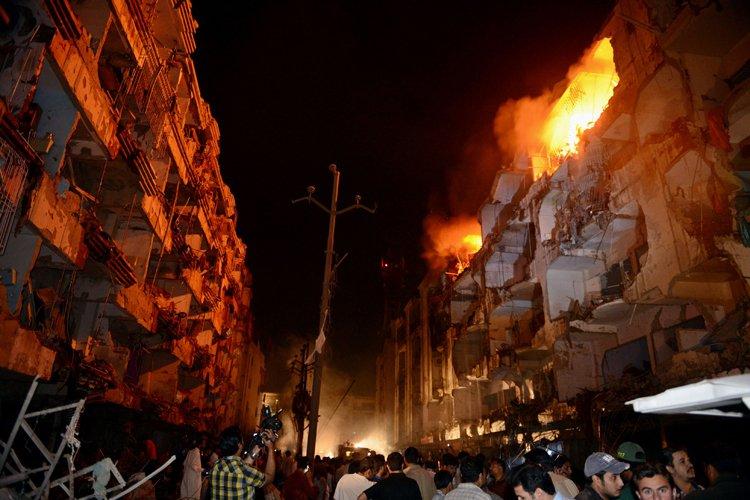 L'explosion a eu lieu près de l'entrée du... (Photo: AFP)