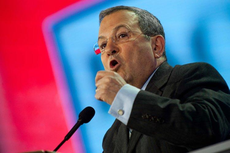 Ehud Barak a prononcé un discours devant l'AIPAC,... (Photo: AFP)