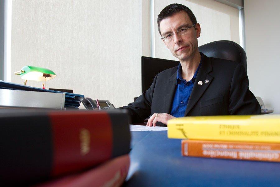 Dominic Peltier-Rivest, de l'École de gestion  John-Molson,... (PHOTO OLIVIER JEAN, LA PRESSE)