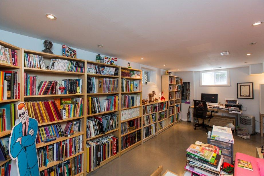 Le sous-sol fait également office de bureau pour le propriétaire. | 4 mars 2013