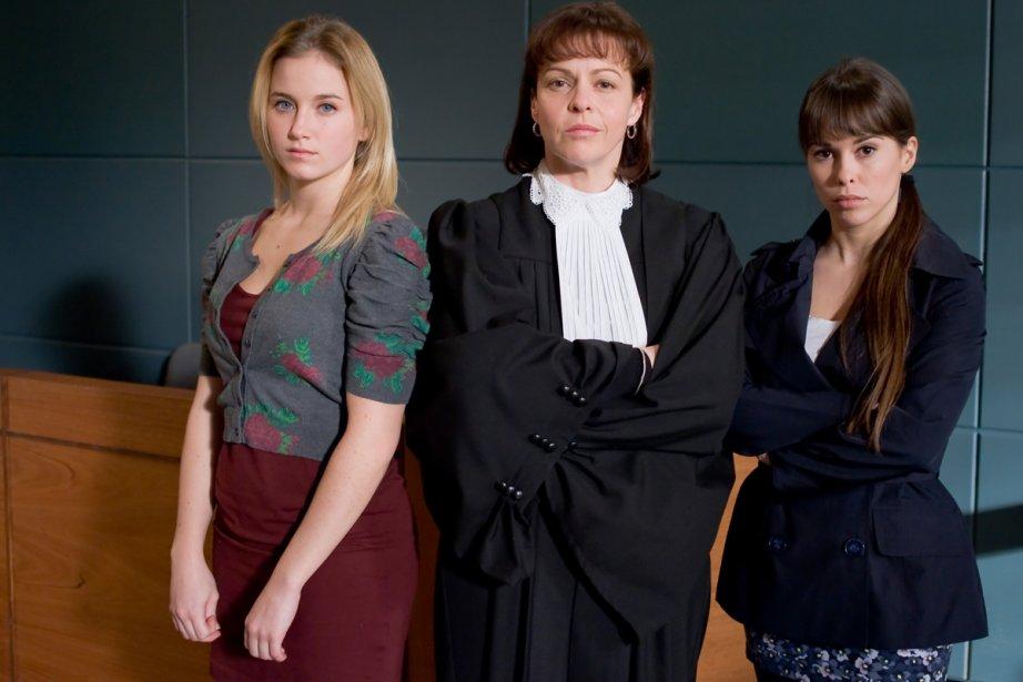 Audréane Carrier, Maude Guérin et Roxane Gaudette-Loiseau dans... (Photo: fournie par TVA)