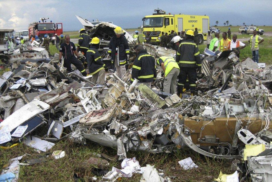 Un accident d'avion avait eu lieu à Kinshasa... (Photo archives AP)
