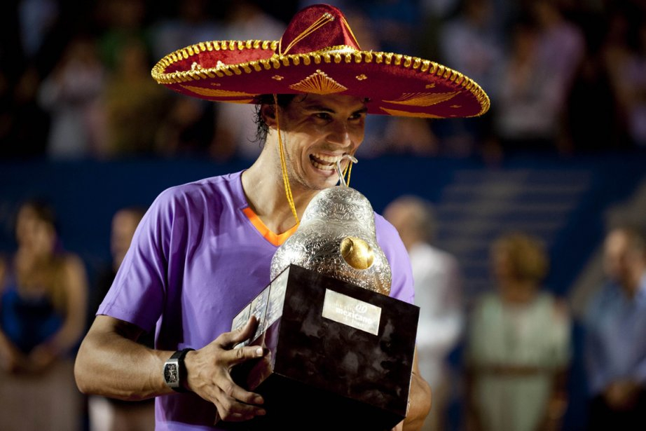 Rafael Nadal a remporté l'Omnium du Mexique, un... (Photo Yuri Cortez, AFP)
