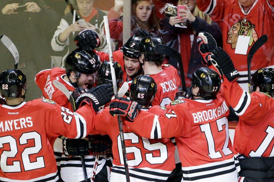 Les Blackhawks de Chicago sont imbattables depuis le... (Photo Nam Y. Huh, AP)